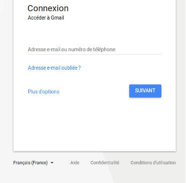 Connexion compte Gmail